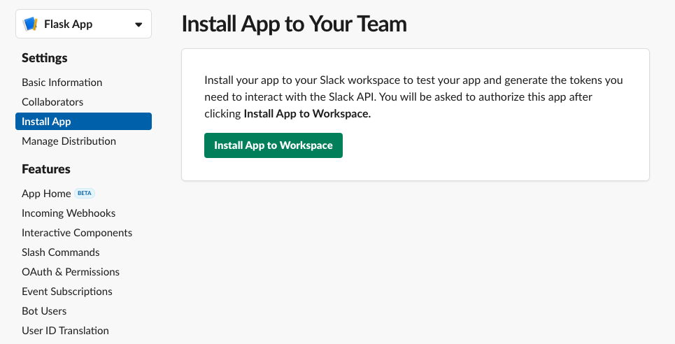 Install Slack App
